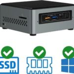 intel nuc mini pc celeron j3455 quad core 8 gb ddr3 240 gb ssd windows 10 pro