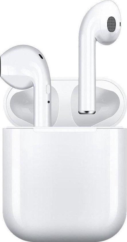 Alt. airpods - Bluetooth wireless oortjes Stereo 5.0 TWS i12 - Geschikt voor iphone (iOS) en samsung (Android) wit