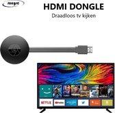 HDMI Dongle -WiFi Miracast - Draadloos tv kijken - Mediastreamer - Miracast - Chromecast - TV stick - TV screencast mirror - 1080p - Airplay - Full HD